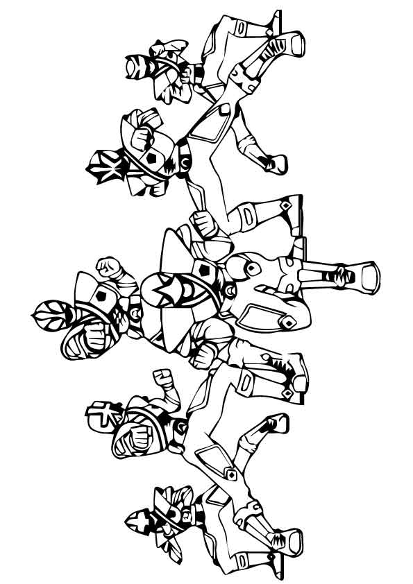 Power Rangers Angel coloring pages