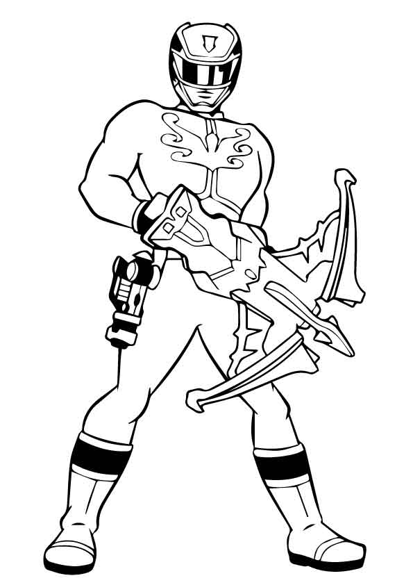 Power rangers 3 coloring pages
