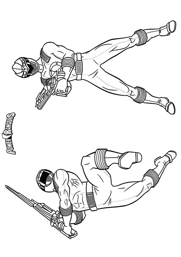 Superhero Power Rangers coloring pages
