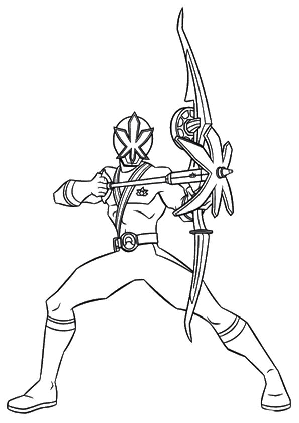 Pink Ranger coloring pages