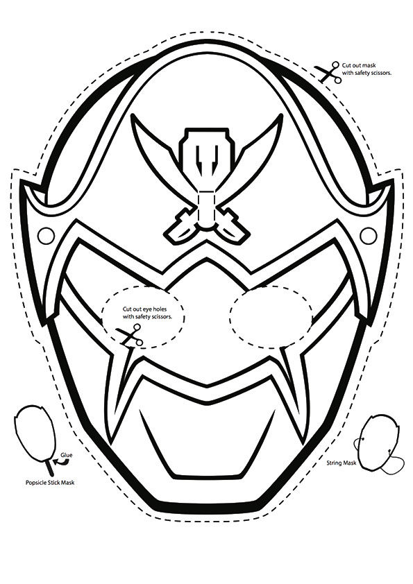Power Rangers Mask coloring pages