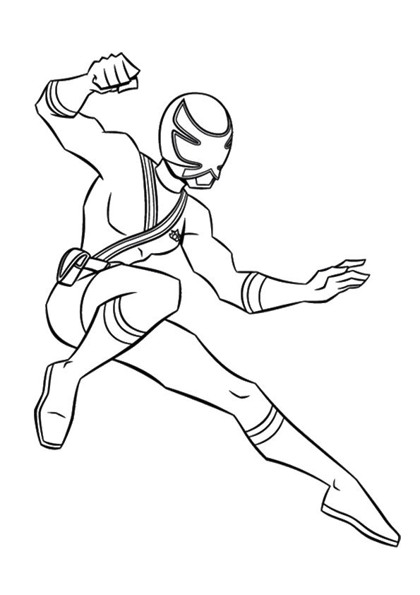 Yellow Ranger coloring pages