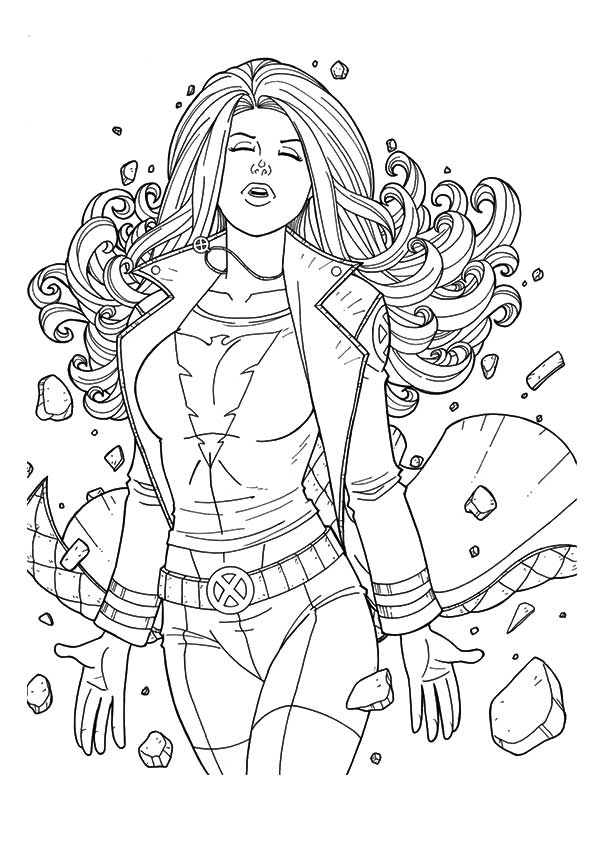 Jean Grey coloring pages