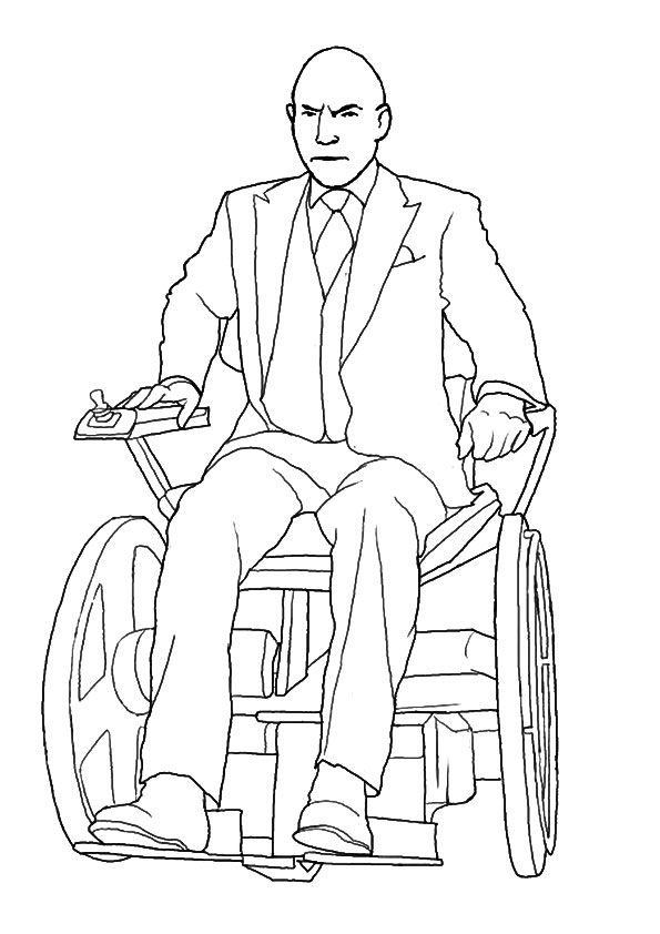 Professor X coloring pages