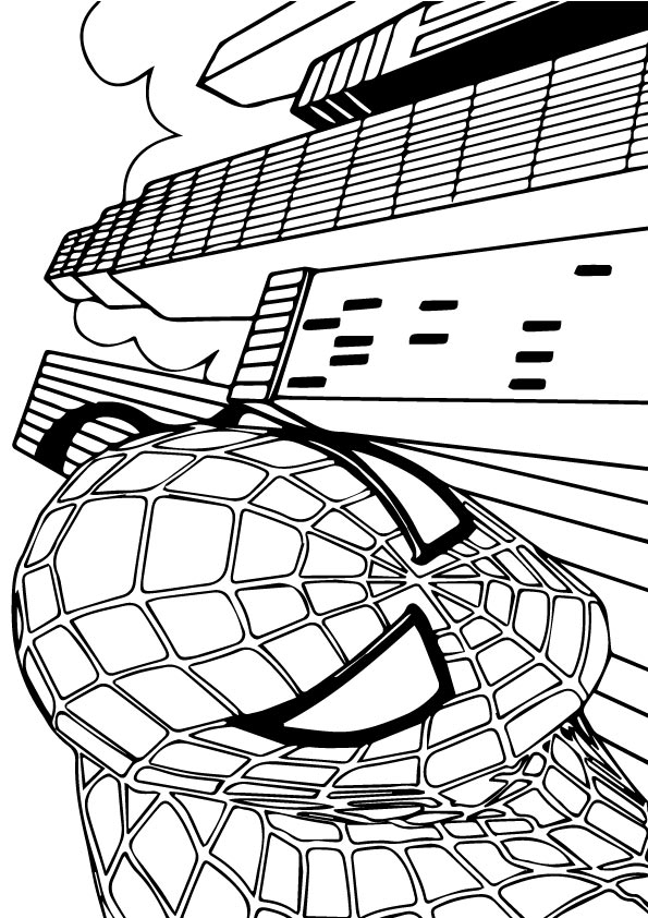 Spiderman in Pose coloring pages
