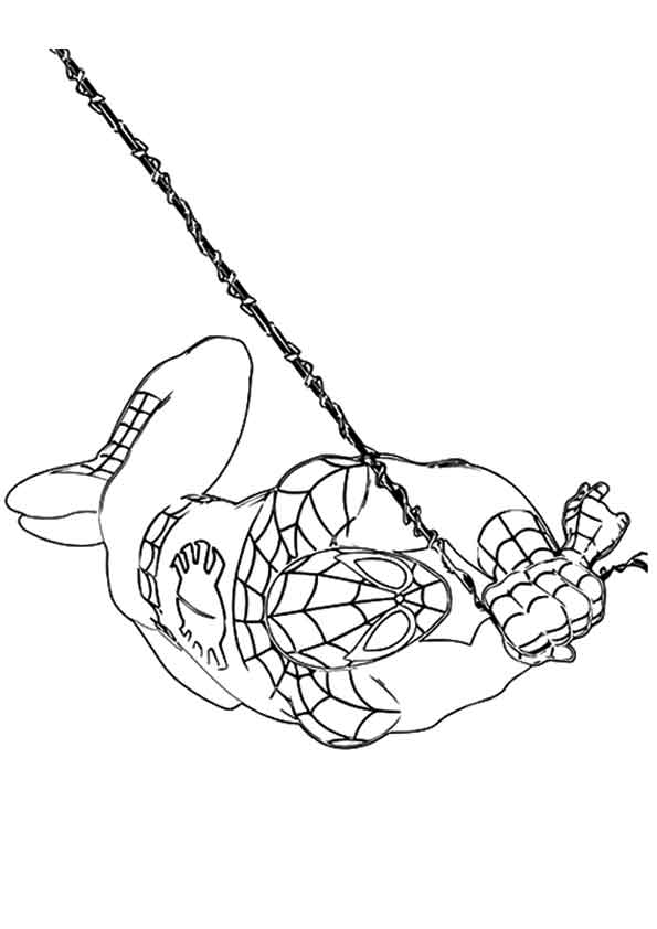 Spiderman Ready coloring pages
