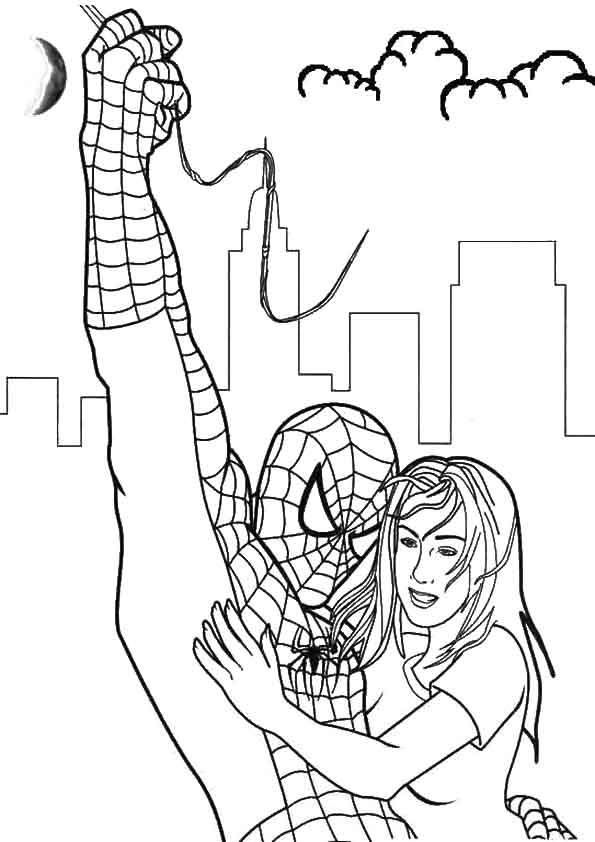 Spiderman Survivor coloring pages