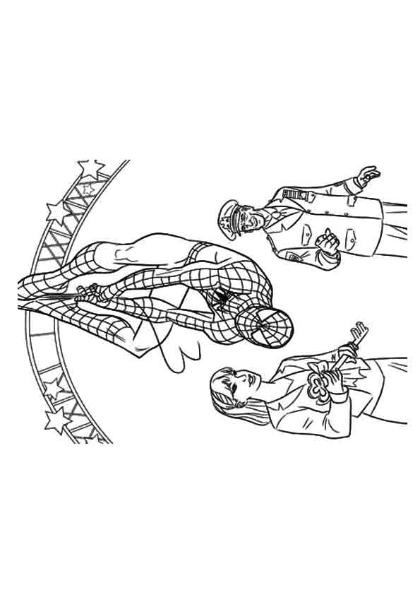 Talking Spiderman coloring pages