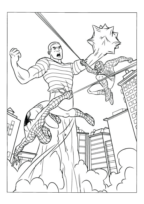 7800 Free Coloring Pages Spiderman 3 Images & Pictures In HD