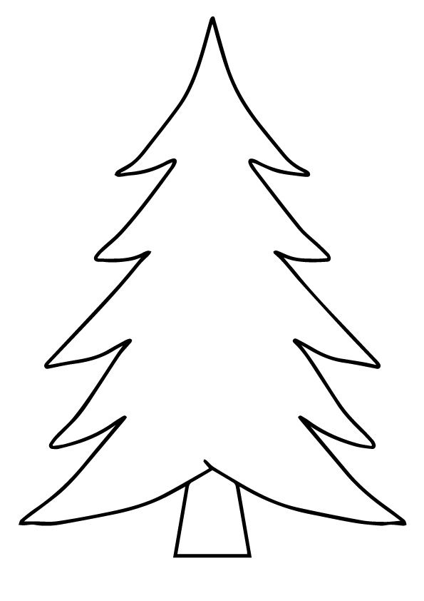 Christmas Tree Card coloring pages