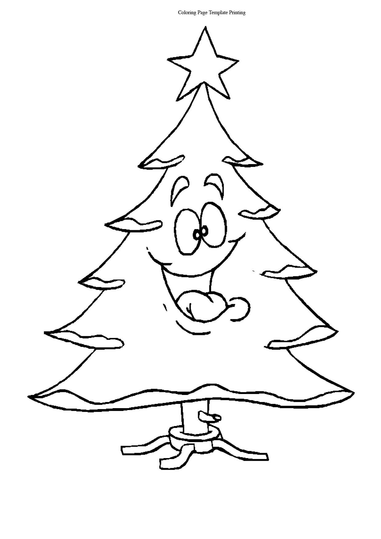 Christmas Tree Cartoon coloring pages
