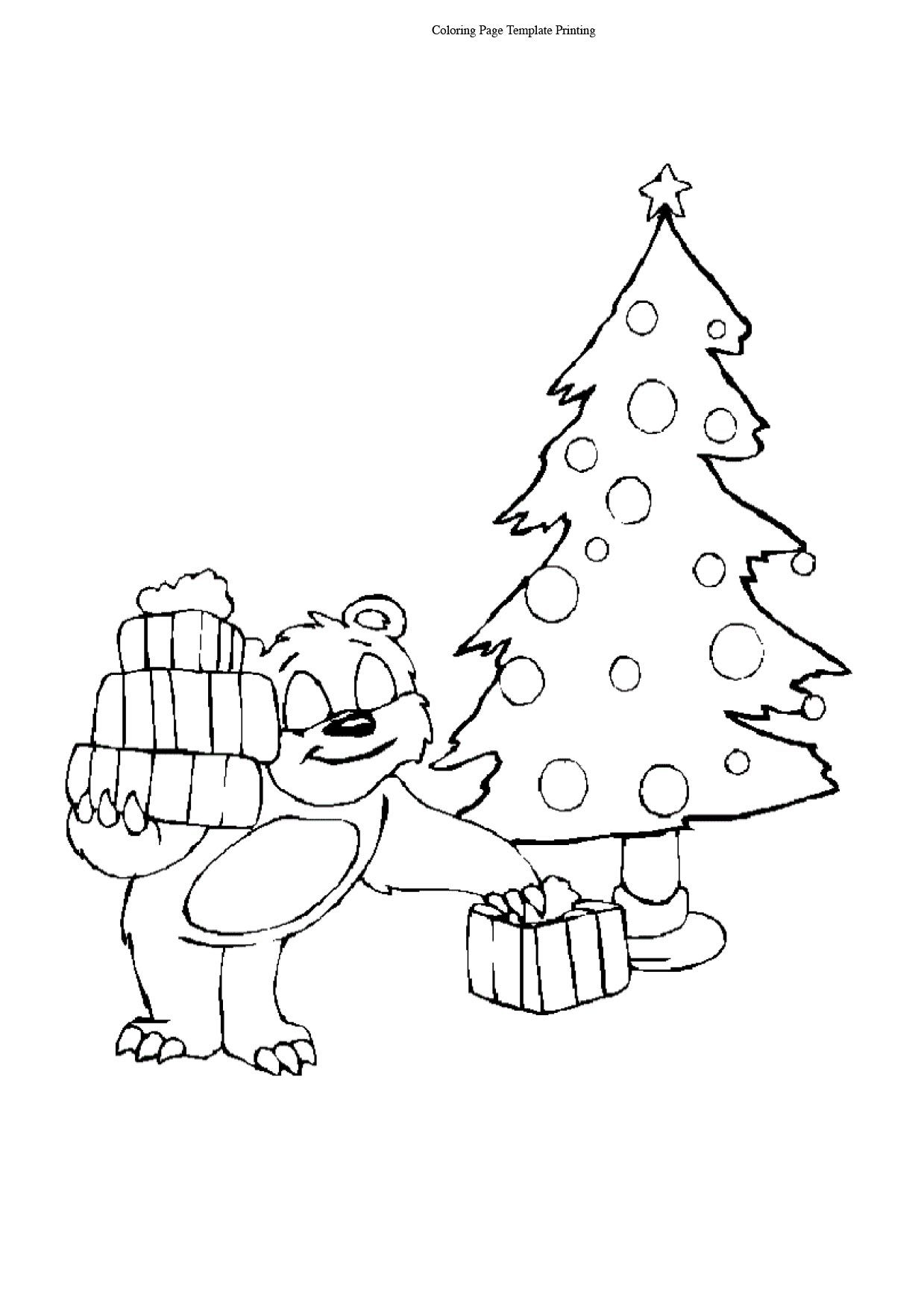 Christmas Tree Gifting coloring pages