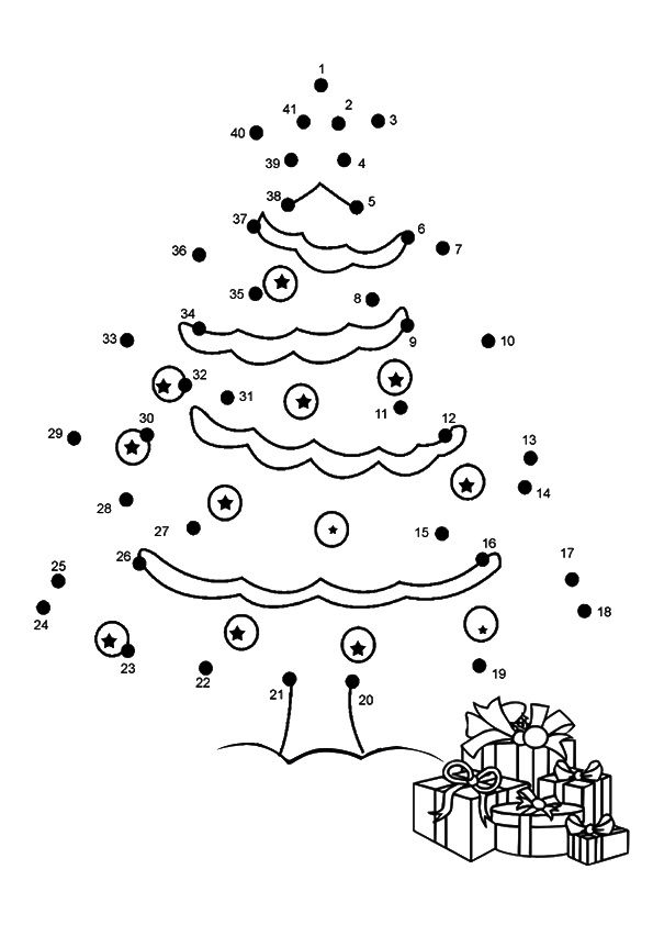 Christmas Dot To Dot Star coloring pages