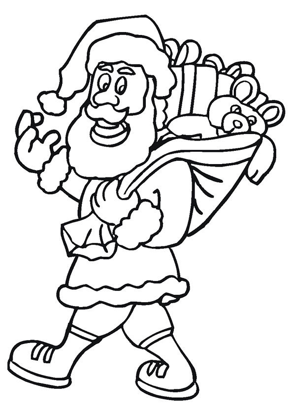Santa Clause Gifts coloring pages