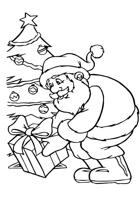 Santa Clause coloring pages