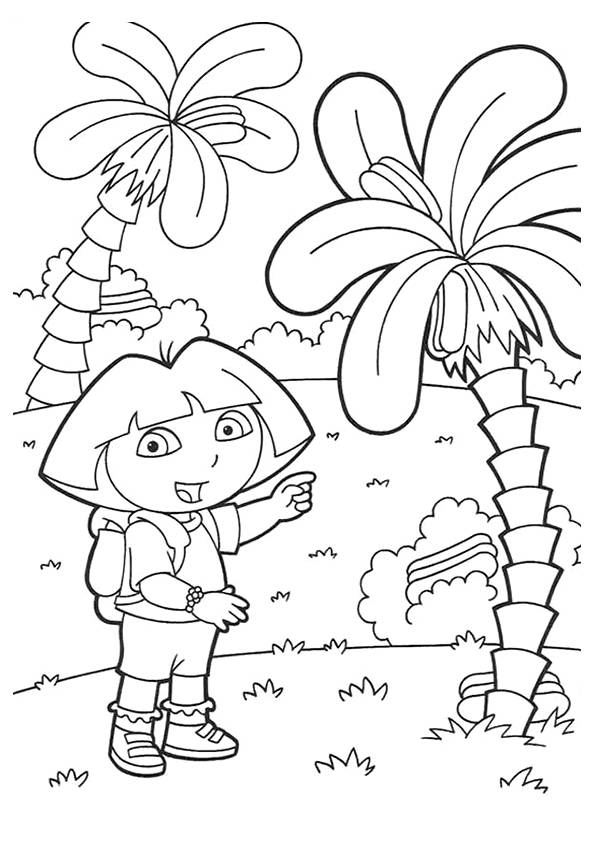 Simple Trees coloring pages