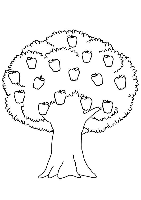 Free Trees Coloring Pages, Printable Trees Coloring ...